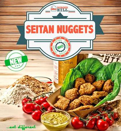 Seitan Nuggets Burger Hill