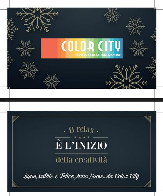 Biglietto d'Auguri Color City